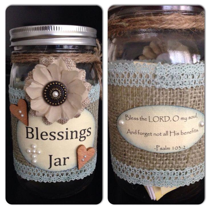 pinterest mason jar bridal shower favors%0A Blessings Jar with Scripture More