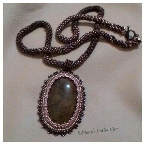 My netting stich neklace. . .realy love it hehe