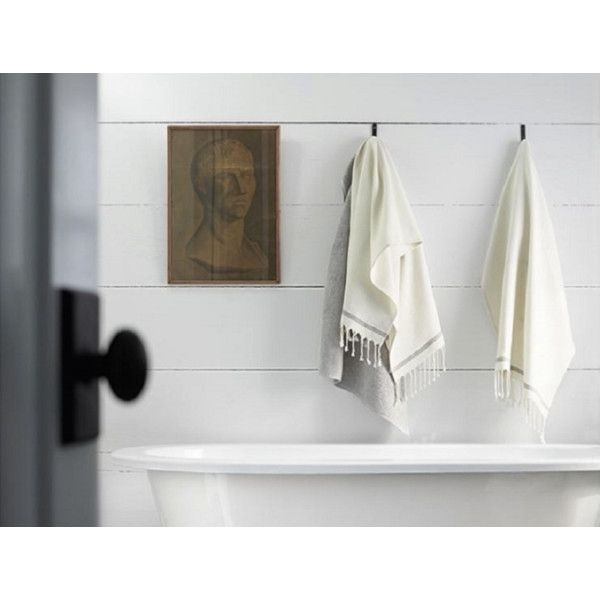 Coyuchi Mediterranean Bath Towel Azure W/mid Ocean Stripe By (77 CAD) ❤ liked on Polyvore featuring home, bed & bath, bath, bath towels, bath towels & washcloths, textured bath towels, white bath towels, lightweight bath towels, coyuchi and white washcloths