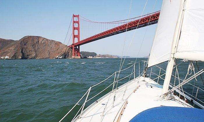 Golden Gate Sailing Tours - Treasure Island: $69 for a three-hour sailing tour for two (up to $150 value) The three-hour six-person sailing cruise explores the San Francisco Bay as pairs relax and enjoy the sights.
