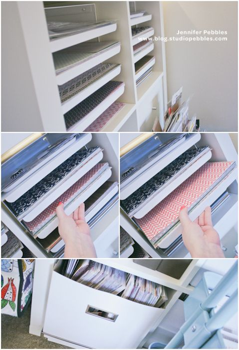 """Kvissle letter tray sorter from IKEA-Just flip the tray upside down, pull it out about 1.5"""" and stack your papers on top!"""
