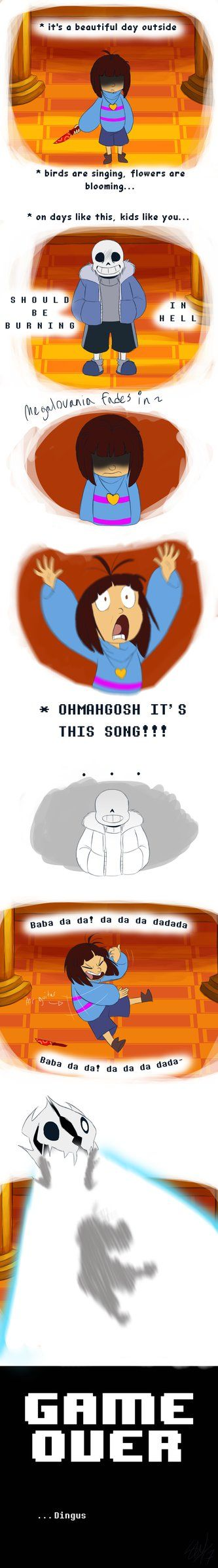 also known as TC's first encounter with the Sans fight!....I literally got distracted by the song that I got obliterated by Sans in the first couple of seconds a lot of people have probably made co...