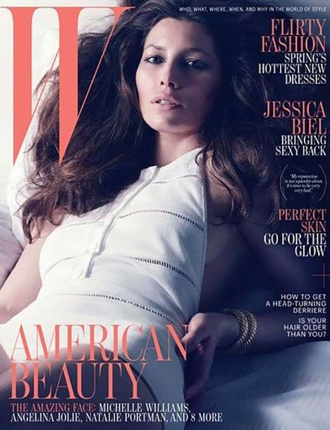Jessica Biel Covers W Magazine April 2012