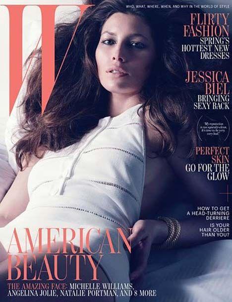 Jessica Biel Covers W Magazine April 2012
