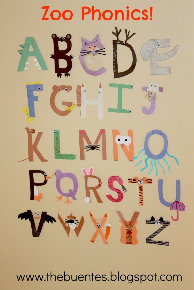 animals friends made out of each letter