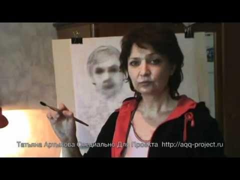 Портрет в Технике «Сухая Кисть» (Видео) | Многообразие Живописи