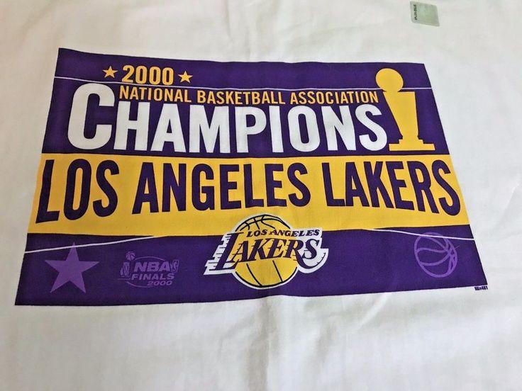 NEW Vintage 2000 Los Angeles Lakers Champions NBA Finals Shirt XL White T-shirt #eBayDanna