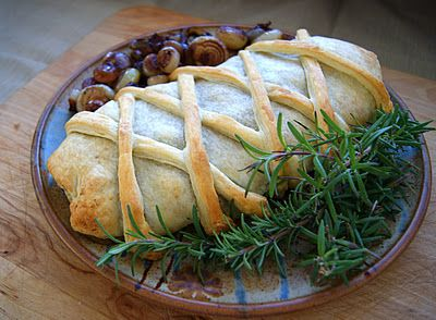 Vegetable Wellington with white bean and toasted pecan puree--a really beautiful vegan holiday entree