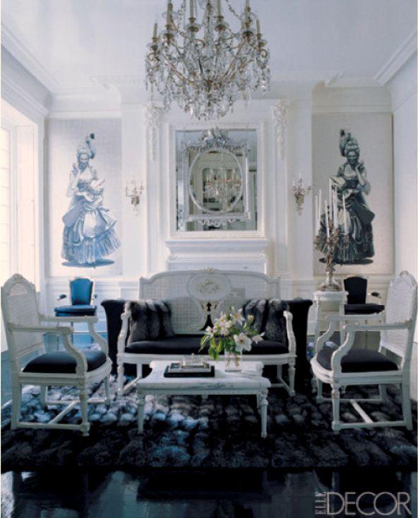 Midnight Blue Living Room: Best 74 Home Decor- Modern Glamour Images On Pinterest