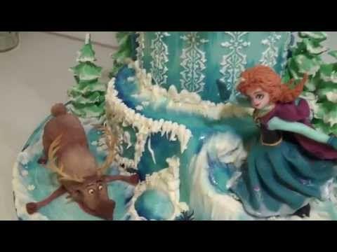 """Торт """"Холодное сердце"""", часть4 (Frozen, part4) - YouTube"""