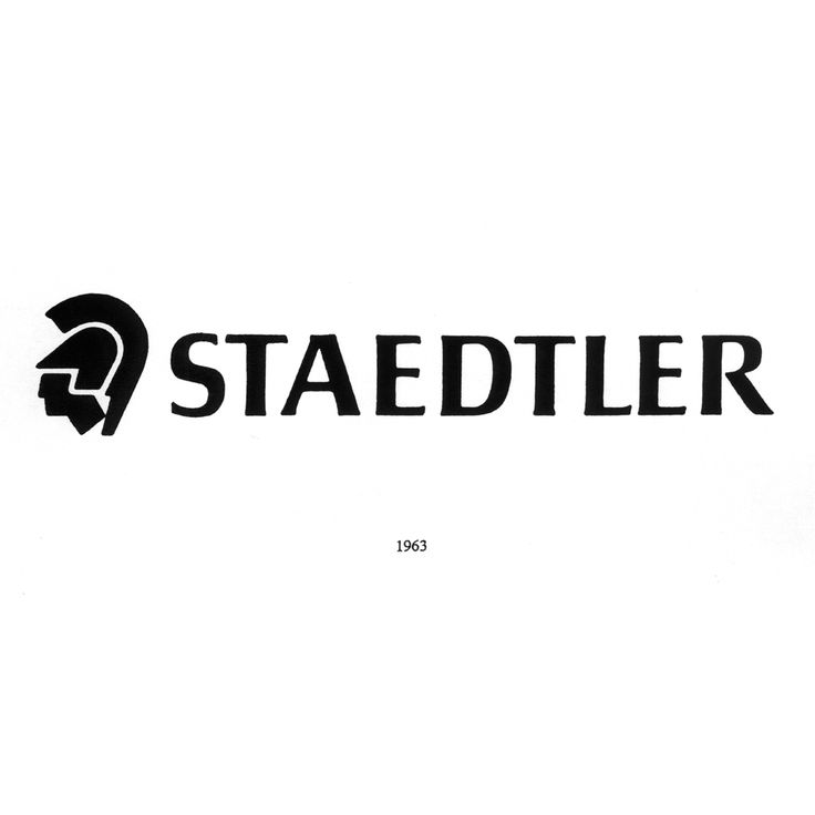 #STAEDTLER's figurative trademark in 1963 #logo #tradition #history #trademark #drawing #writing #roots