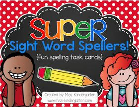 Super Sight Word Spellers {spelling task cards}