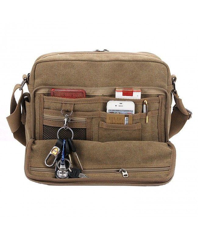 Classic Multifunctional Mens Canvas Messenger Bag Crossbody Working Field Bag Khaki Cy17yr2e0og Shoulder Bag Men Mens Crossbody Bag Mens Canvas Messenger Bag
