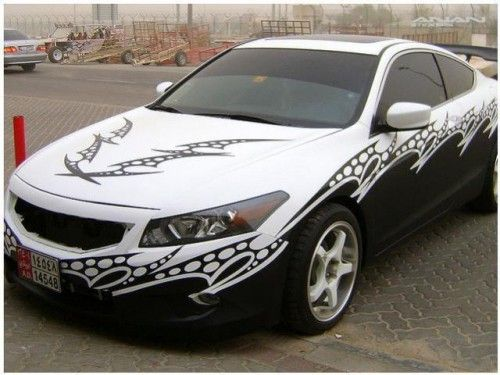 Custom Car Decals: Toyota Camry Custom Grahics