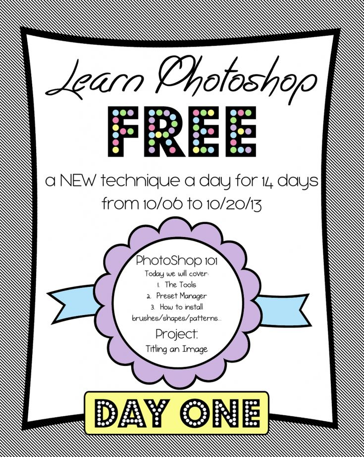 Learn Photoshop FREE~~~photoshop-class-day-1