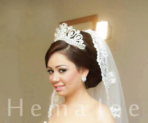 tiaras for wedding and several occasions , princess tiara crown , crystal silver tiara hand made for order inlaid with SWAROVSKI  Crystals