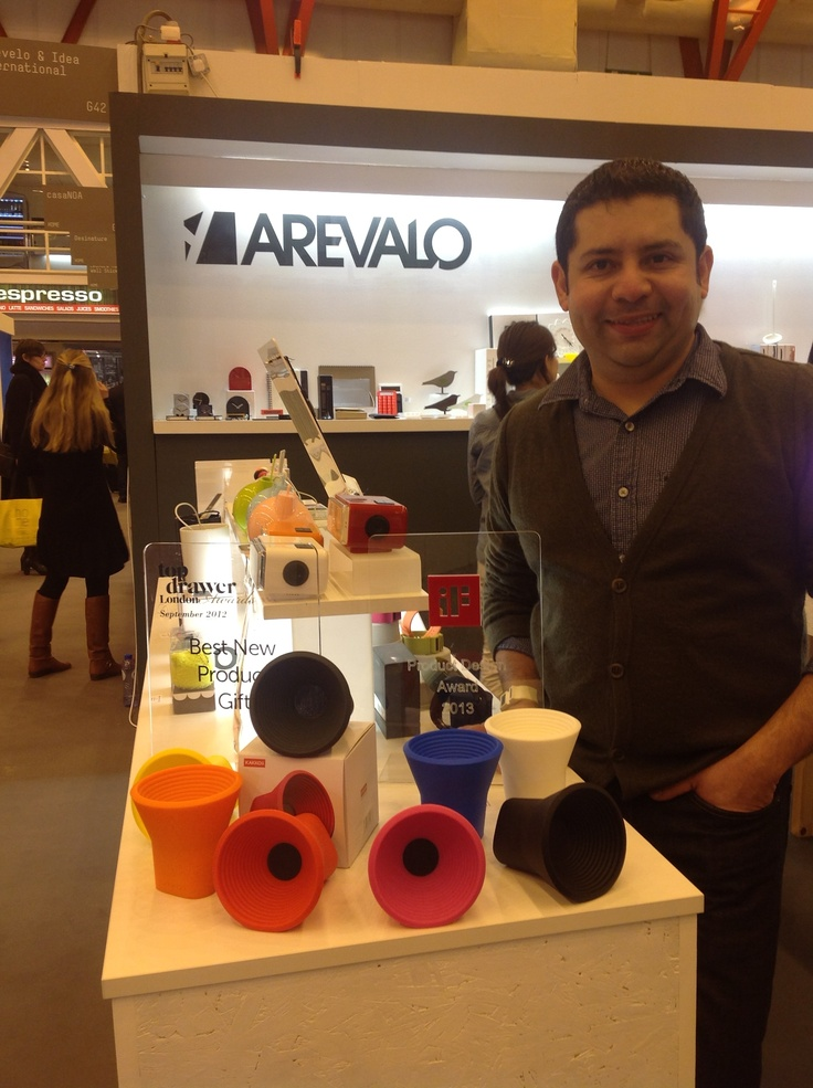 Aarevalo with his Kakkoii  WOW wireless speakers