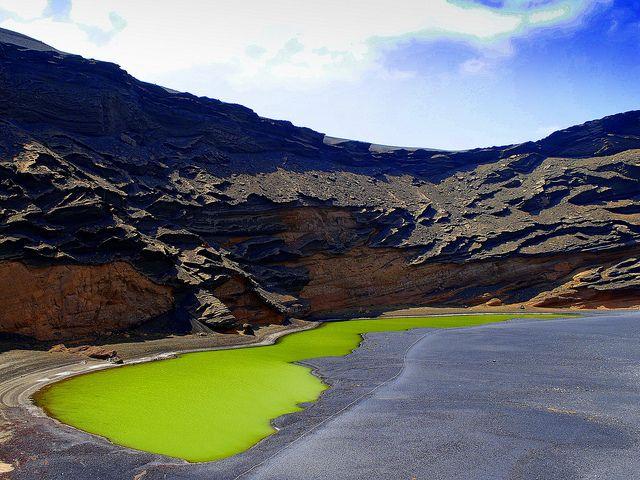 The Green Lagoon, El Golfo, Lanzarote, Canary Islands