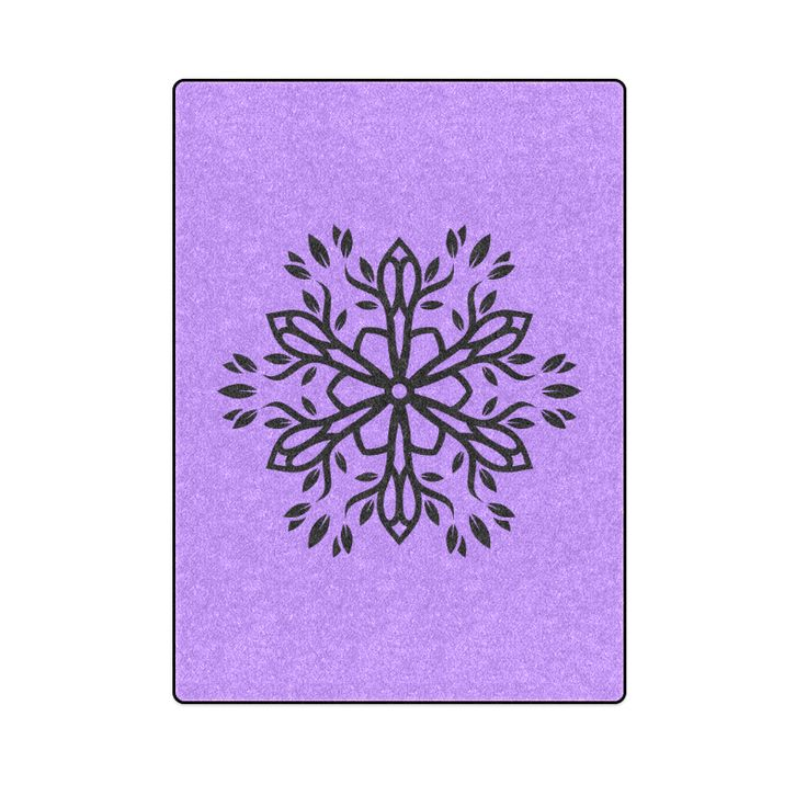 """Designers blanket for bed. Purple edition with Mandala art. ECO COLLECTION Blanket 58""""x80""""."""