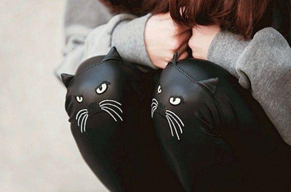 cat leather leggings