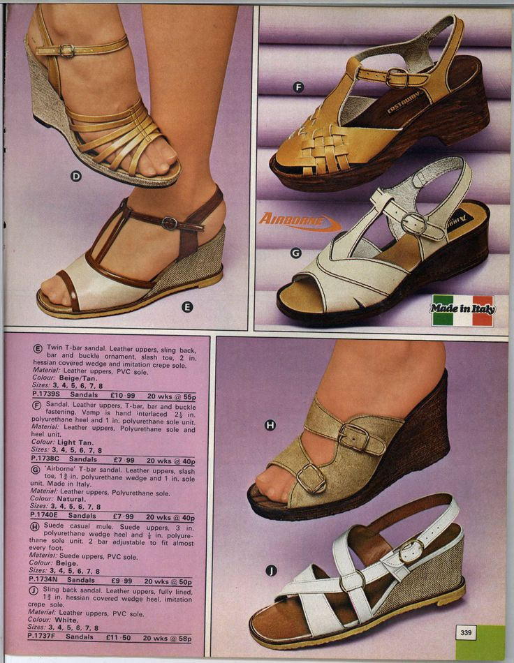 161 Best Fashion Steps 70 S Shoes And Accessories 1970