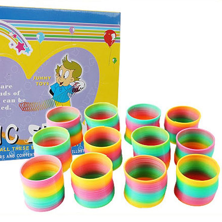 ==> [Free Shipping] Buy Best 16 Pcs/Set Magic Rainbow Circle Multi-Shape Rainbow Circle Coil Stretch Ring Children's Toys Online with LOWEST Price | 32801548837