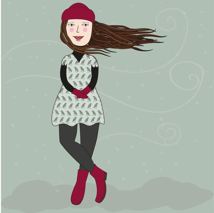 ilustración digital - frío - invierno
