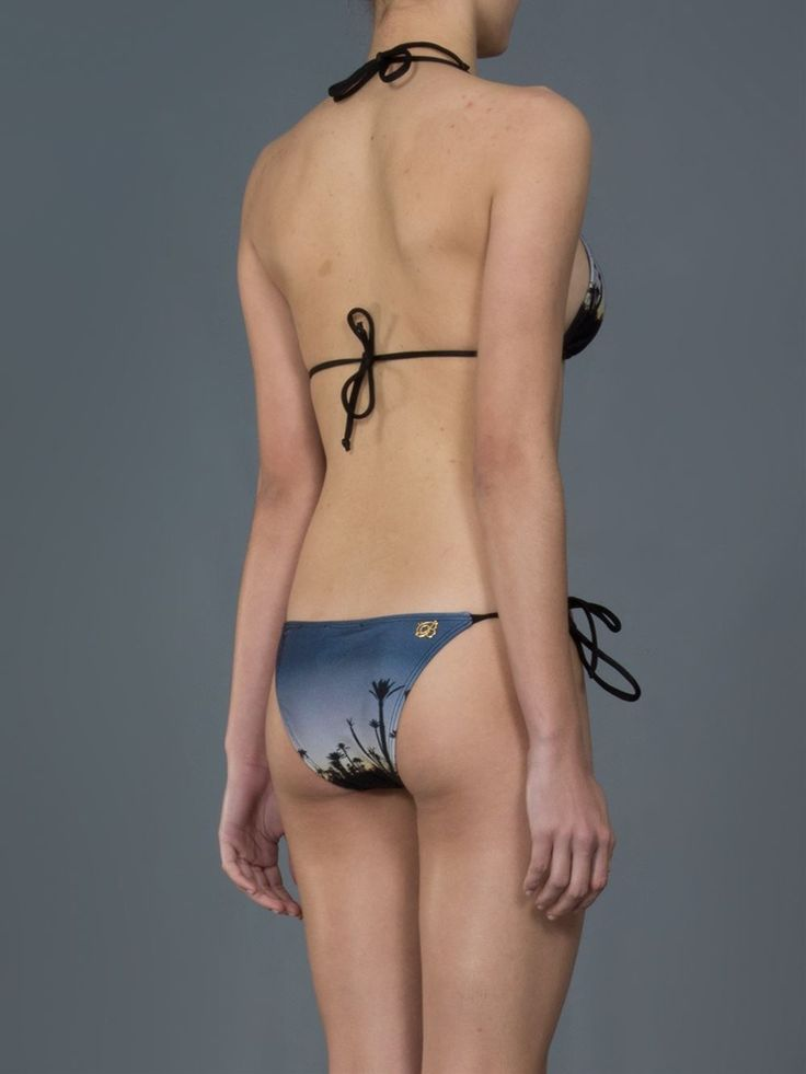 Brigitte Biquíni azul estampado.