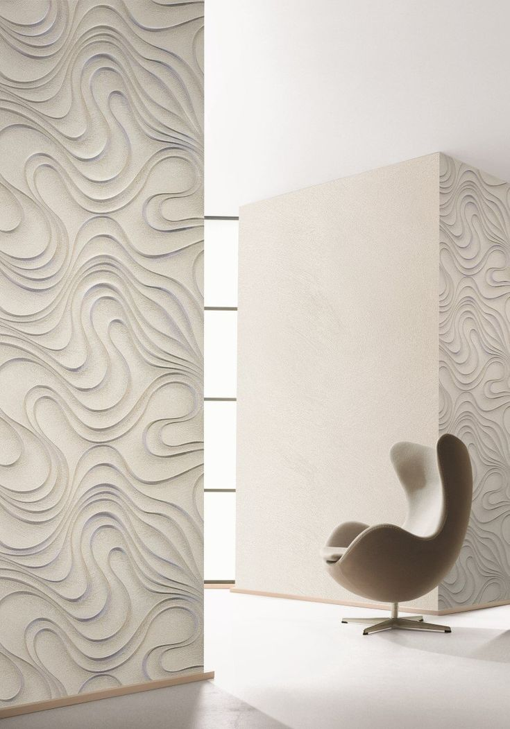 ... Optical Three Dimensional Illusion Where Parallel Curvaceous Lines Seem  To Float In Front Of The Wall. Evolution Designer Wallpapers   Samples  Available ...