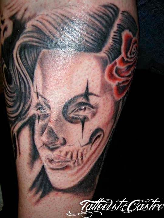 "Tattoo Chicano style inspiration, Rodadero Ink Santa Marta by Tattooist Castro ""King of Queens"""