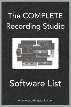 Recording Studio Software List http://ehomerecordingstudio.com/recording-studio-software/