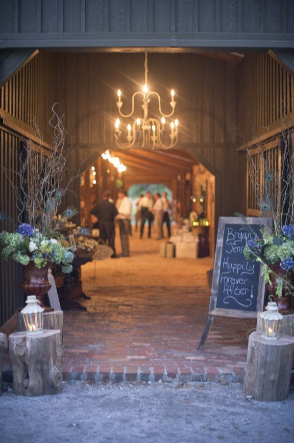 I love this entrance to the reception