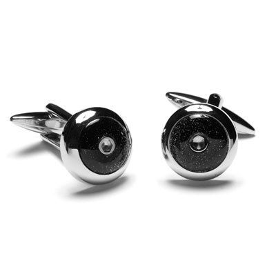 Stainless Steel Cufflinks with Blue Sandstone, $39.95