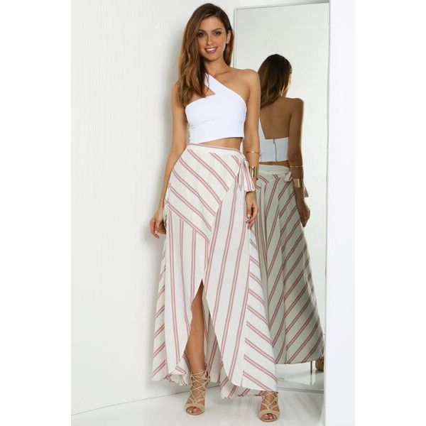 See this and similar clothing - The one night crop is a must have wardrobe staple with a twist. Pair it with a skirt or high waisted pants to perfect the look!