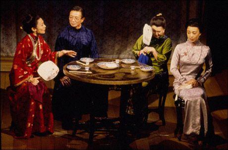 Kim Miyori, Randall Duk Kim, Tsai Chin and Ming-Na Wen in Golden Child, 1998 Photo by Joan Marcus