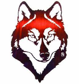 "18"" Wolf Metal Wall Art by Bindrune Design"