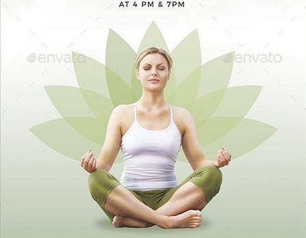 74 best Yoga Flyer \/ Print Templates \/ PSD images on Pinterest - yoga flyer