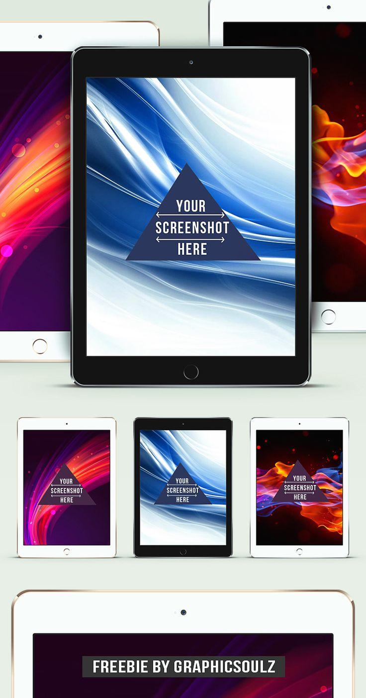 iPad Air 2 PSD Mockup Freebie - By Graphicsoulz