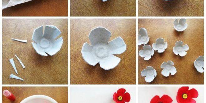 3 Wunderschone Handgefertigte Mohnblumen Fur Den Gedenktag Herbstgq Flower Crafts Crafts Poppy Craft
