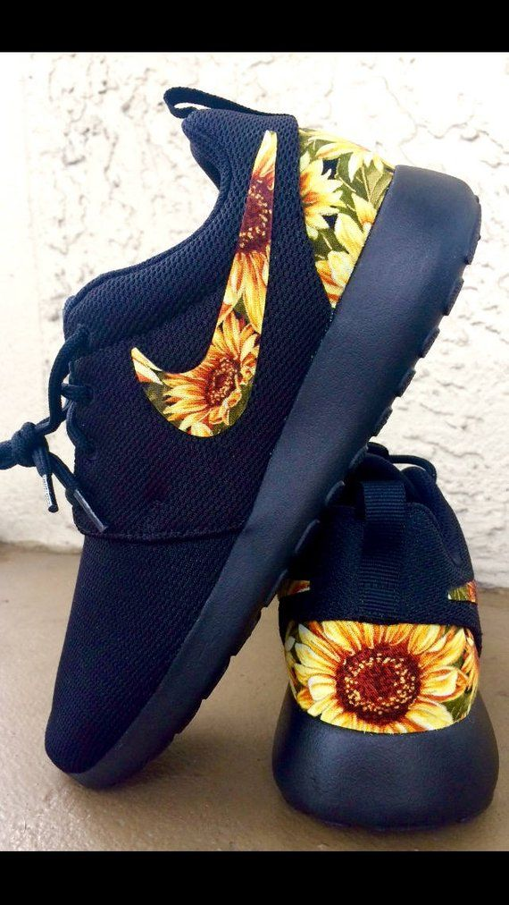 b91424dd41ba Custom Sunflower Nike Roshe in 2019
