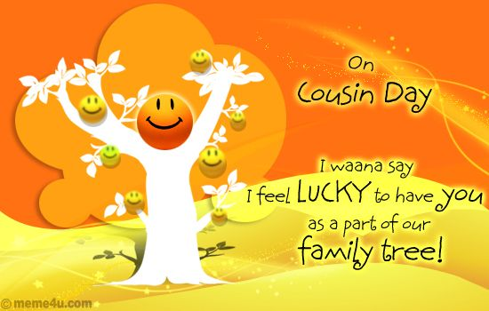 Happy Cousins Day Poems Quote Card and Sayings | Download ...