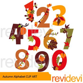 Autumn numbers clip art set includes 10 graphics. Fun numbers 0 to 9 in fall theme. Great for chapter title, or other autumn theme projects!Find black and white outline hereLink-Autumn Numbers line art - clip art black lineThis digital clipart set is great for teachers and educators.