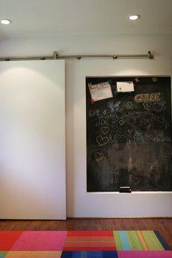 "Destinee sliding chalkboard with resources for barn door ""slides"""