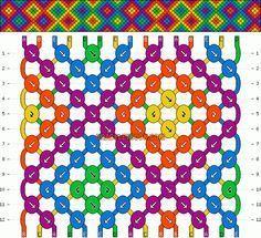 Normal Friendship Bracelet Pattern #13486 - BraceletBook.com