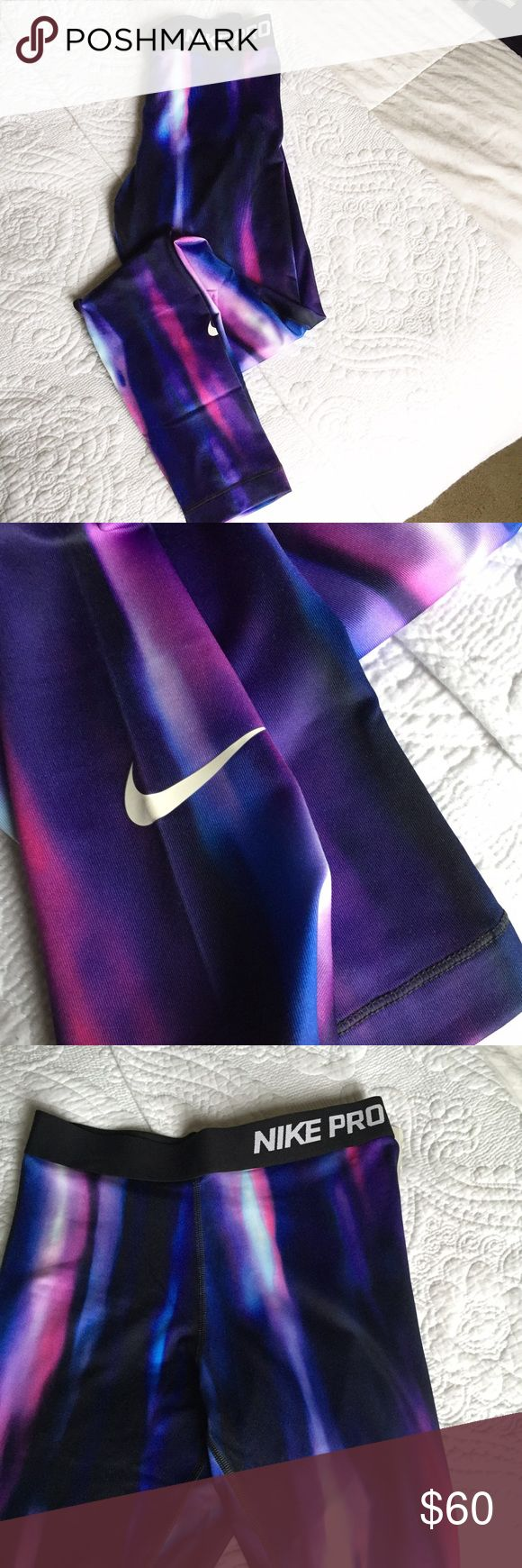 Nike Pro Leggings *Only Sz small left* Such a unique pair of running pants to wear year round! Size medium sold! Size small is pending! If listing is active, pants are still available!! Nike Pants