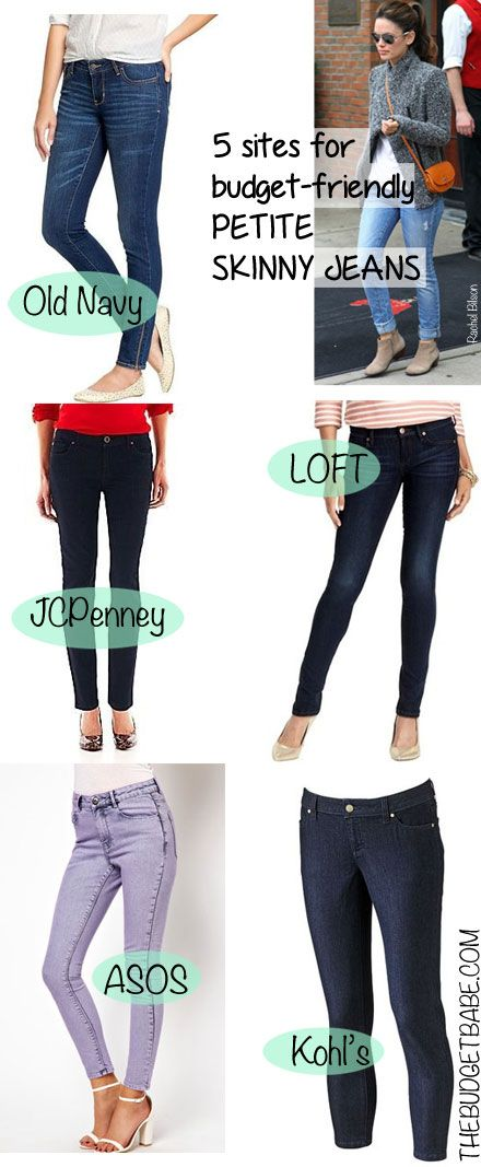 5 Sites for Budget Friendly Petite Skinny Jeans/ for Shorty's like me!