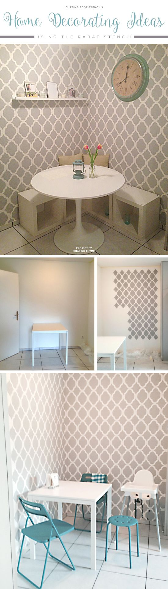 33 best rabat allover stencil images on pinterest cutting edge a diy stenciled accent wall using the rabat allover stencil httpwww amipublicfo Image collections