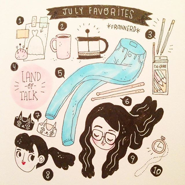 """""""Things I loved this month 1. 'Dior and I' documentary 2. Black filter coffee, no milk no sugar 3. Col-erase erasable pencils 4. Land of Talk 5. Topshop jeans change my life 6. Whiplash 7. Cat rings 8. Audrey Hepburn's exhibition 9. My new hair 10. The Walking Dead marathon I had with  Estée and Aslan"""" Photo taken by @frannerd on Instagram, pinned via the InstaPin iOS App! http://www.instapinapp.com (07/27/2015)"""