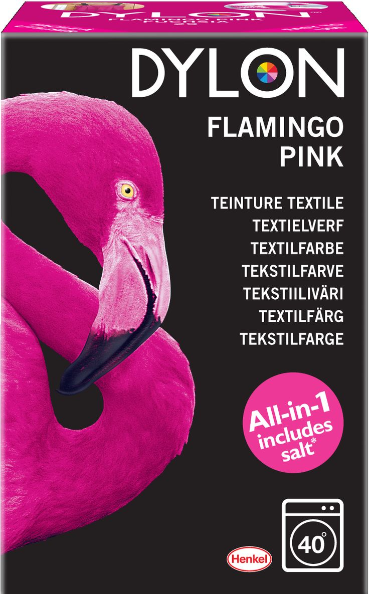 Dylon Textielverf Wasmachine - Flamingo Pink 350 Gram  Description: Dylon Textielverf Wasmachine - Flamingo Pink 350 Gram Geef je kleding een uitgesproken kleur met de flamingo pink. Deze kleur staat voor levendig en voor een glimlach. Vrolijk je garderobe op met een mooie roze kleur. Gebruiksaanwijzing: Weeg de droge stof om te zien of u voldoende verf hebt Was de stof zorgvuldig zelfs indien nieuw om eventuele vlekken en apprets te verwijderen Trek rubberen handschoenen aan en leeg het pak…
