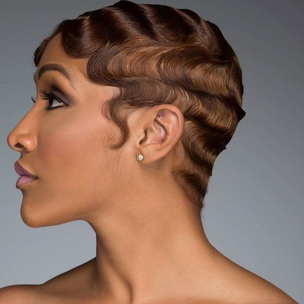 80 Cool Short Haircuts For Black Women Best In 2019 With Images Short Natural Hair Styles Finger Waves Short Hair Finger Wave Hair